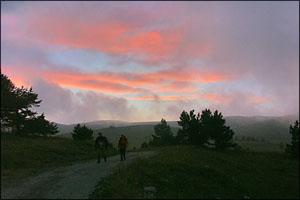 Закат над Романовским шоссе.  (c) Victoria Ovdenko